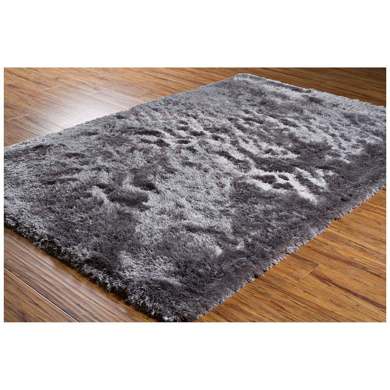Chandra Mercury MER6904 Gray Shag Area Rug