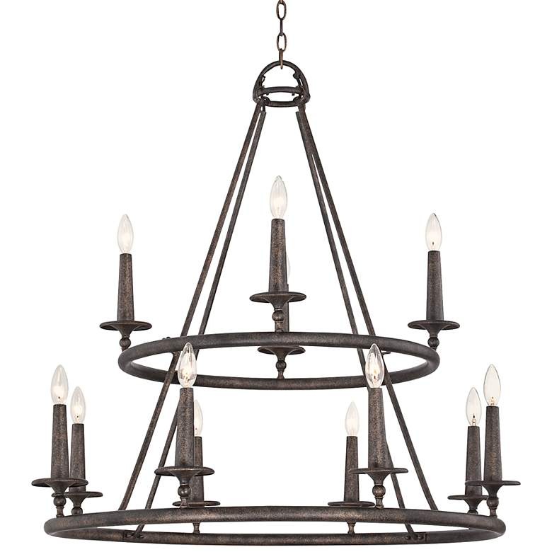 "Quoizel Voyager 36"" Wide Malaga Chandelier"