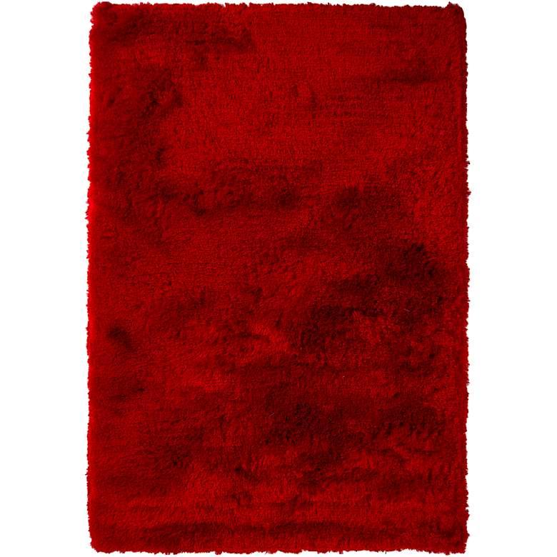 """Chandra Naya NAY18802 5'x7'6"""" Red Shag Area Rug"""