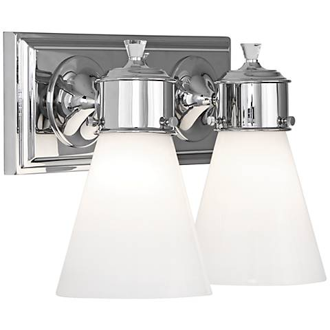 "Blaikley 13 1/4"" Wide Polished Chrome 2-Light Wall Sconce"
