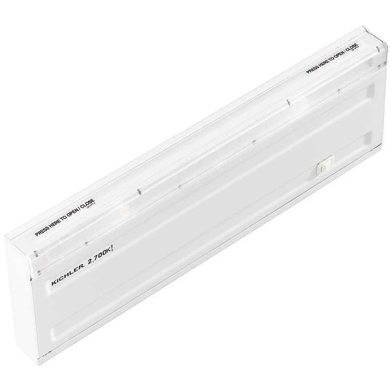 "Design Pro White 12 3/4"" Linkable LED Under Cabinet Light"