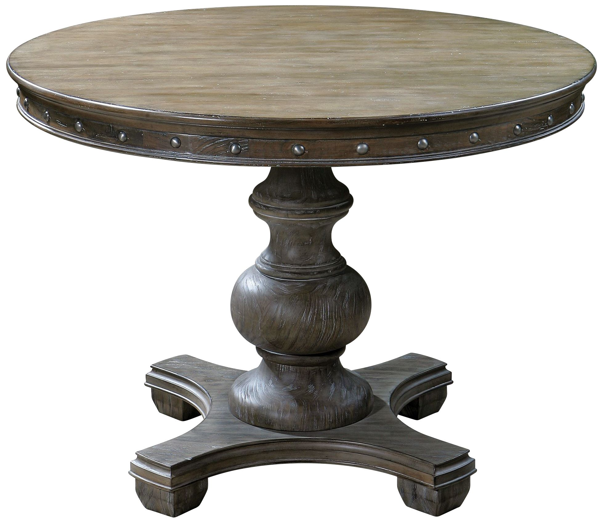 Uttermost Sylvana Light Gray Wash Pedestal Table