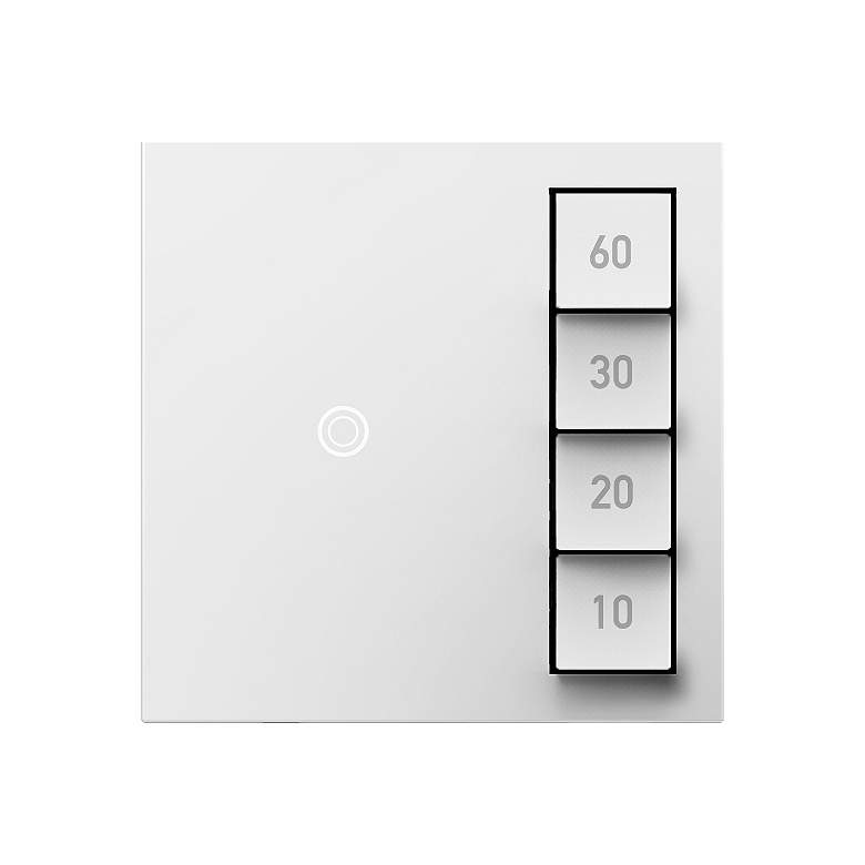 adorne® White Manual-On Timed-Off Sensa Switch