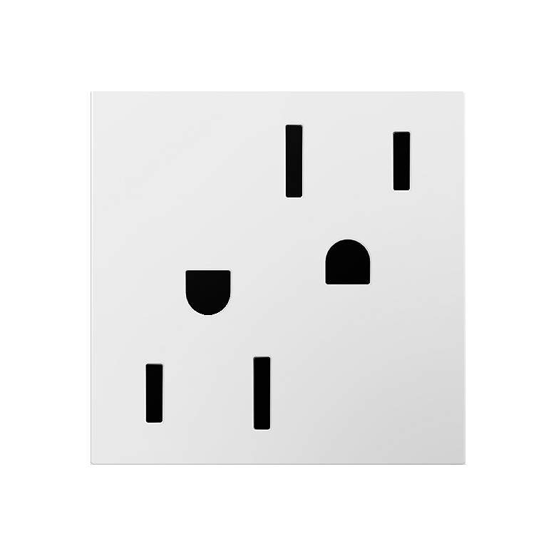 adorne® GFC1 White 15A Tamper-Resistant Wall Outlet