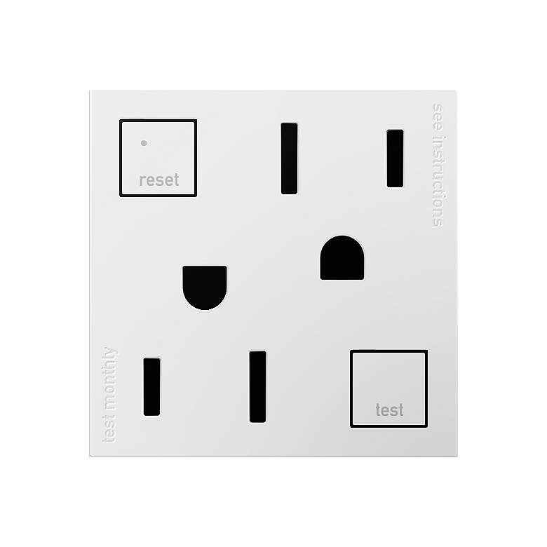 Adorne White Tamper-Resistant 15A GFCI Wall Outlet