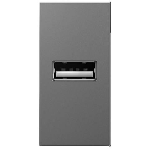 Adorne Magnesium 1-Module 1/2 Gang USB Outlet