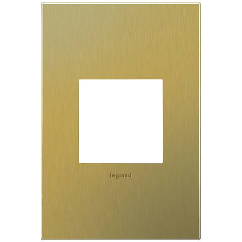 adorne® 1-Gang Brushed Brass Wall Plate