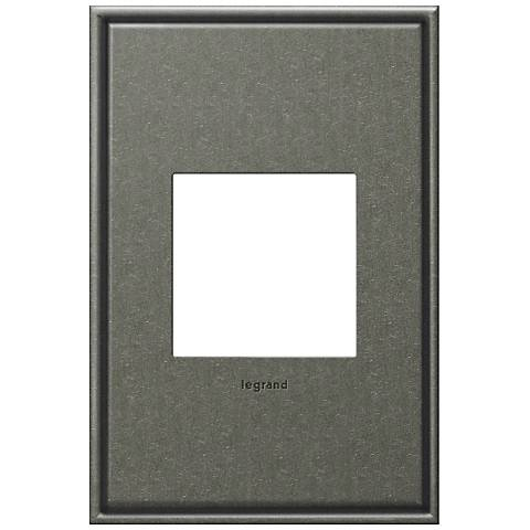 adorne® 1-Gang Brushed Pewter Wall Plate