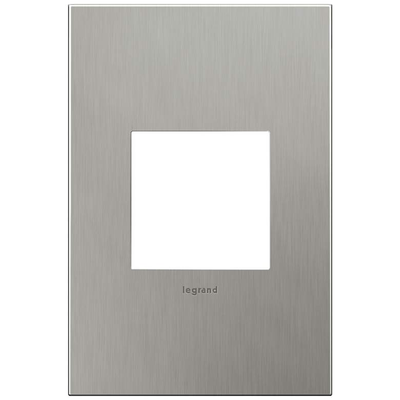 adorne® 1-Gang Brushed Stainless Steel Wall Plate