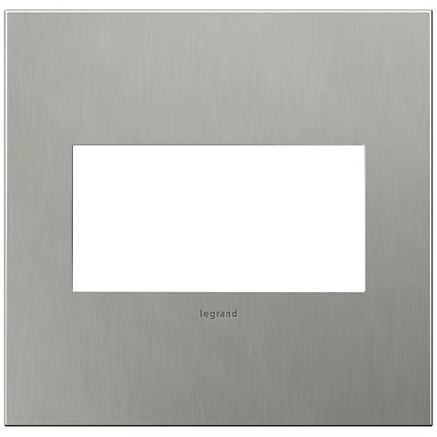 adorne® 2-Gang Brushed Stainless Steel Wall Plate