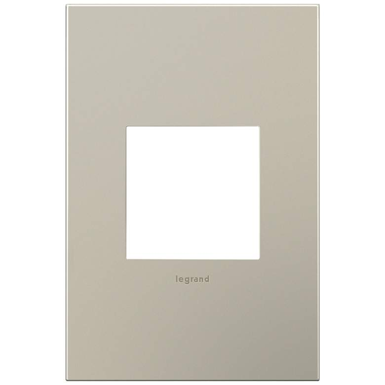 adorne® 1-Gang Satin Nickel Wall Plate
