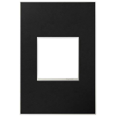 adorne® 1-Gang Black Leather Wall Plate