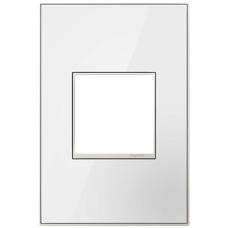 adorne® 1-Gang Mirror White with Black Back Wall Plate