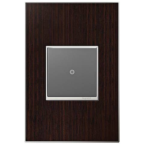 adorne Wenge Wood 1-Gang Real Metal Wall Plate w/ Switch