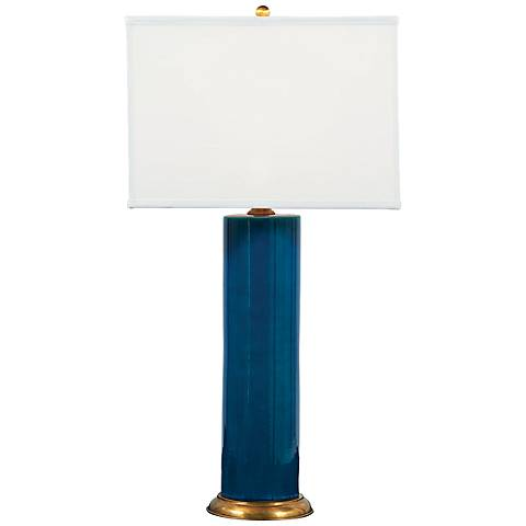 Melrose Turquoise Porcelain Lamp