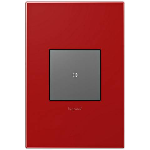 adorne Cherry 1-Gang Wall Plate w/ Switch