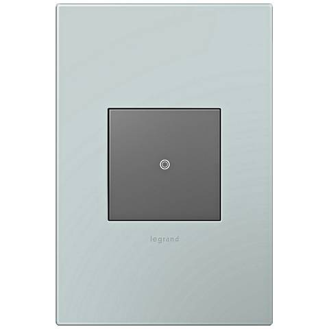 adorne Pale Blue 1-Gang Wall Plate w/ Switch