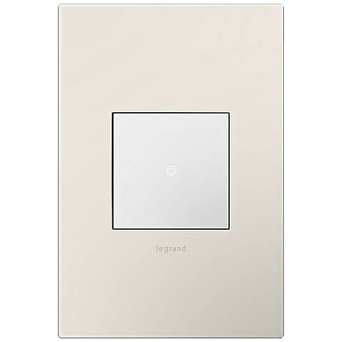 adorne Satin Light Almond 1-Gang Wall Plate w/ Switch