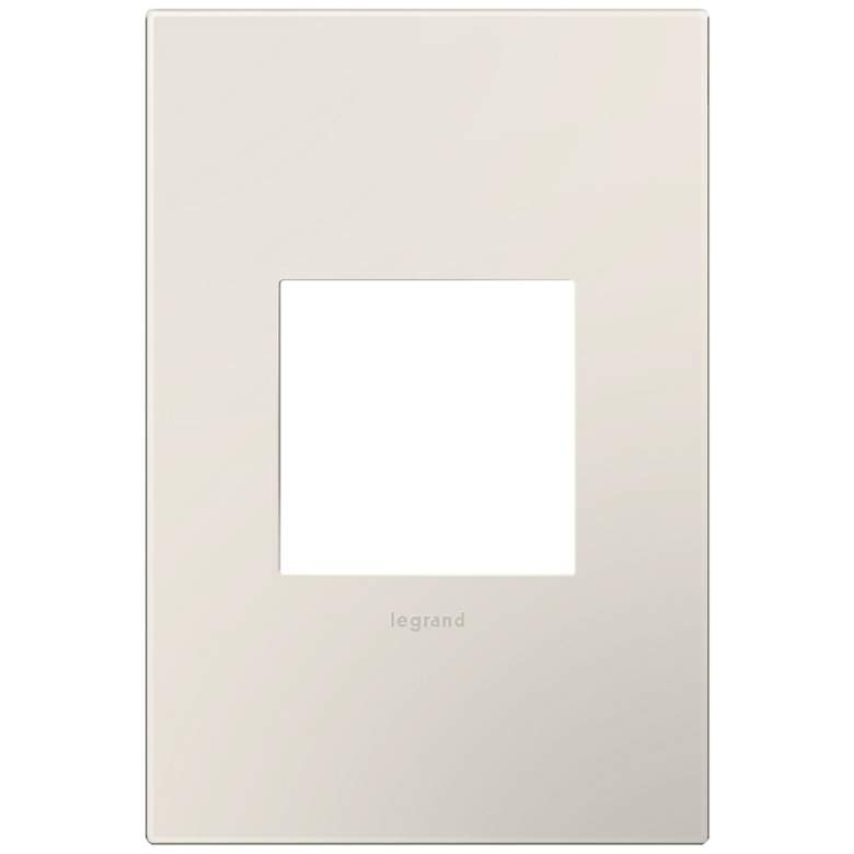 adorne® Satin Almond 1-Gang Snap-On Wall Plate