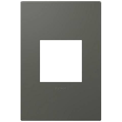 adorne® Soft Touch 1-Gang Moss Gray Wall Plate