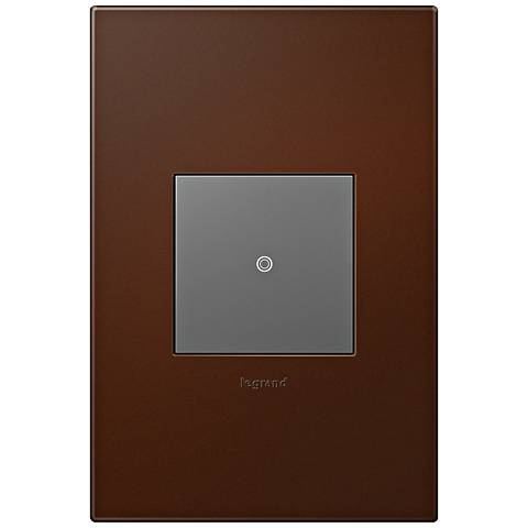adorne Russet 1-Gang Wall Plate w/ Switch