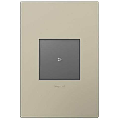 adorne Titanium 1-Gang Wall Plate w/ Switch