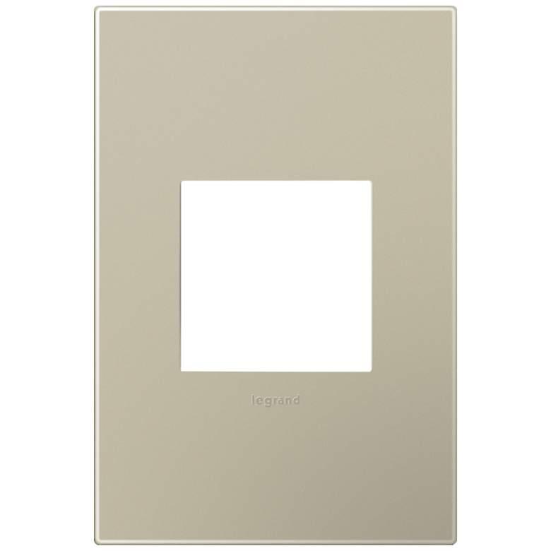 adorne® Snap-On Titanium 1-Gang Wall Plate