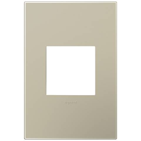 adorne® Snap-On Titanium 1-Gang Wall Plate