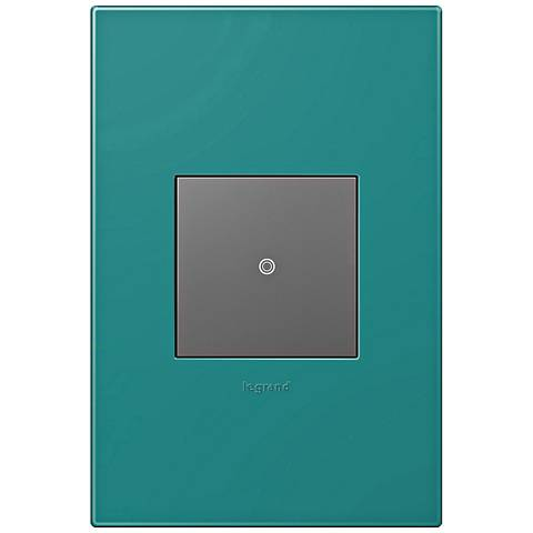 adorne Turquoise Blue 1-Gang Wall Plate w/ Switch