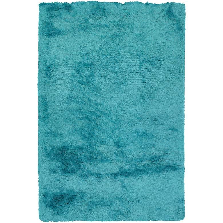 """Chandra Naya NAY18810 5'x7'6"""" Blue Shag Area Rug"""