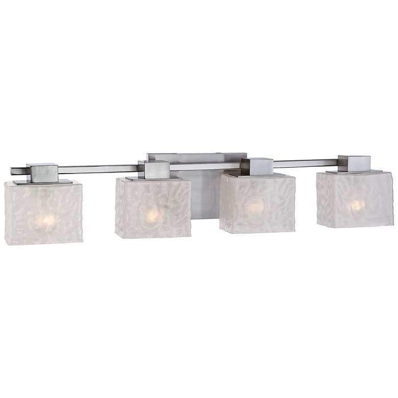 "Quoizel Melody 33"" Wide Brush Nickel 4-Light Bath Fixture"