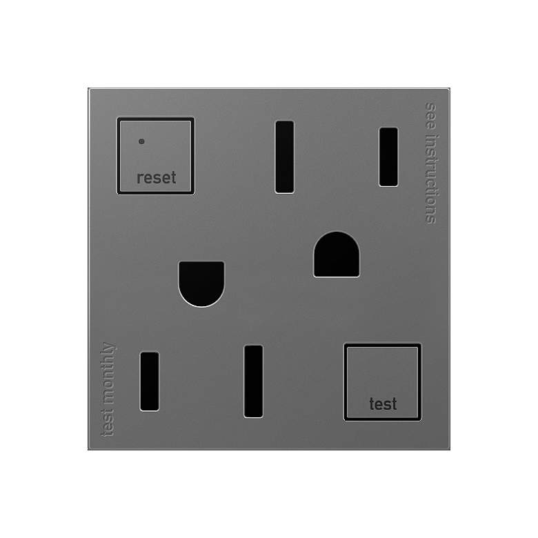 adorne® Magnesium Tamper-Resistant 15A GFCI Wall Outlet