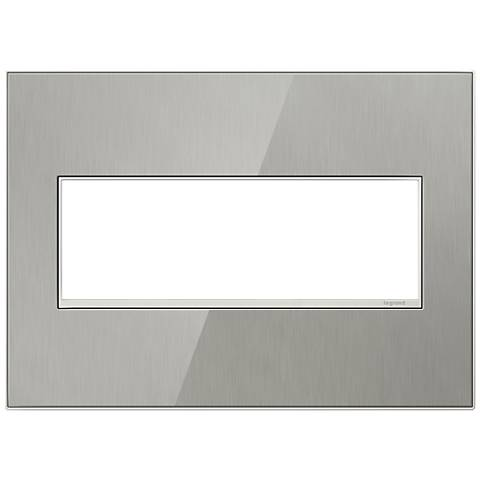 adorne® 3 Gang Brushed Stainless Wall Plate