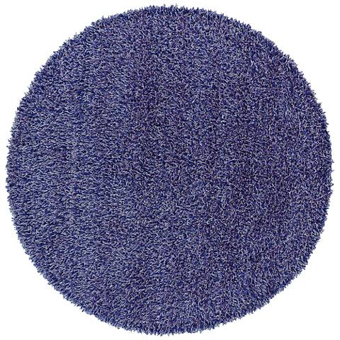 Chandra Zara ZAR14500 Purple Shag Area Rug