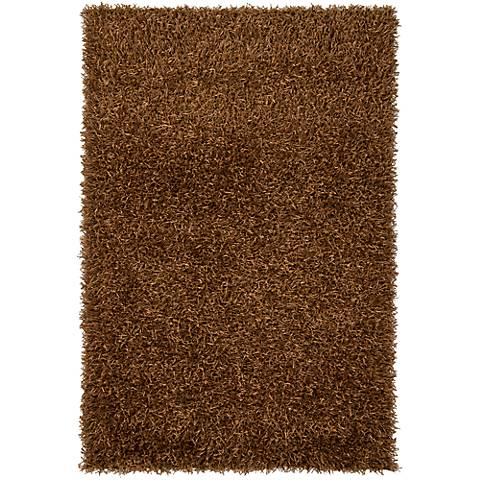 Chandra Zara ZAR14501 Brown Shag Area Rug