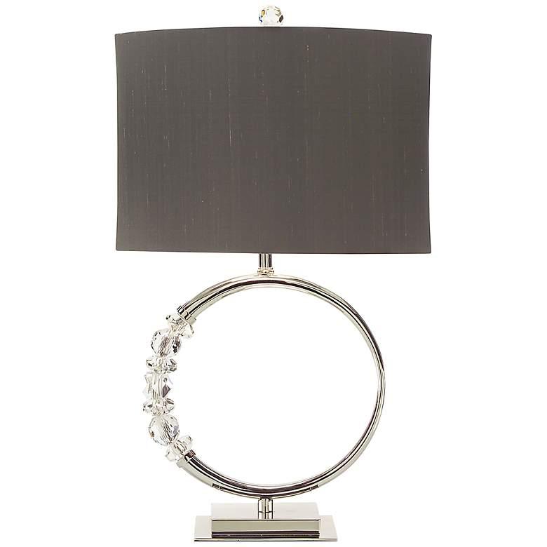 John Richard Nickel Ring Table Lamp