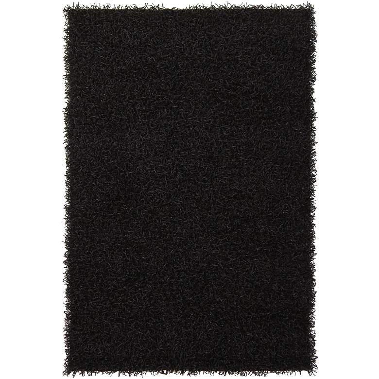 "Chandra Zara ZAR14503 5'x7'6"" Black Shag Area Rug"