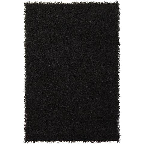 Chandra Zara ZAR14503 Black Shag Area Rug