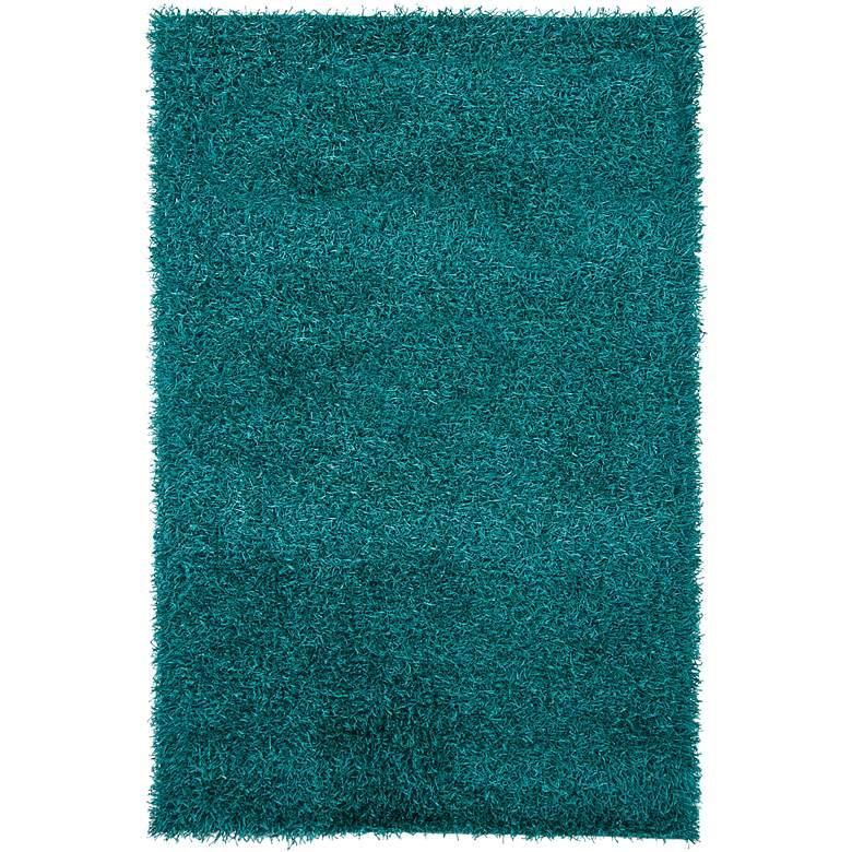 "Chandra Zara ZAR14507 5'x7'6"" Blue Shag Area Rug"