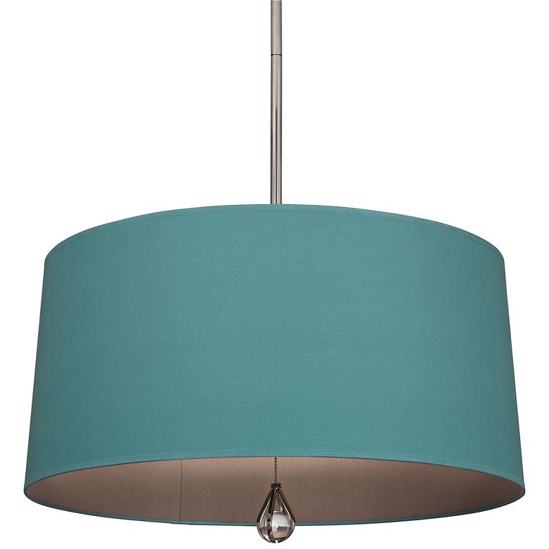 """Custis Collection 25 1/2"""" Wide Mayo Teal Pendant"""