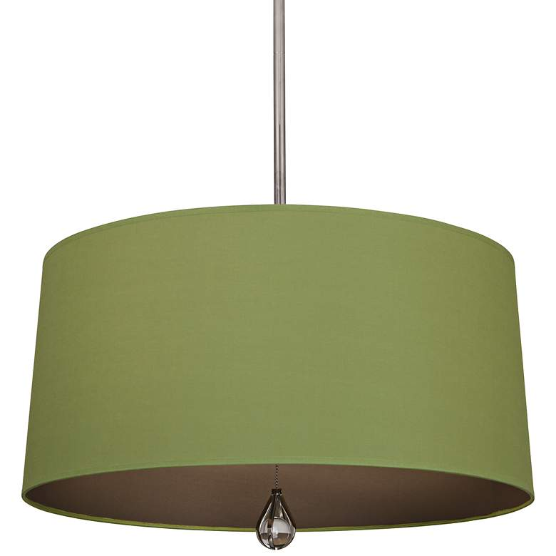 """Custis Collection 25 1/2"""" Wide Parrot Green Pendant"""