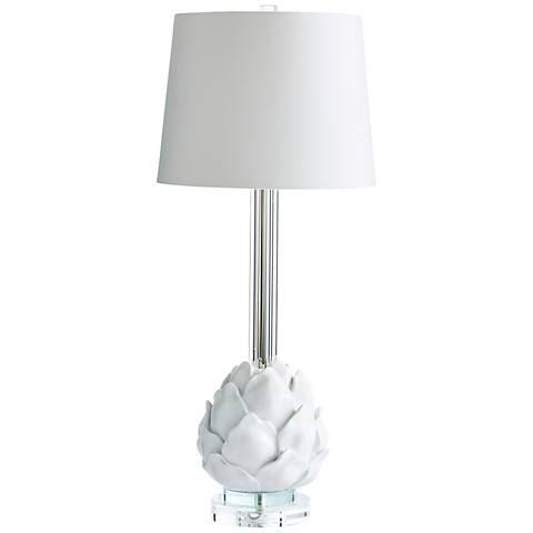 Chloe Artichoke Petal Table Lamp in White