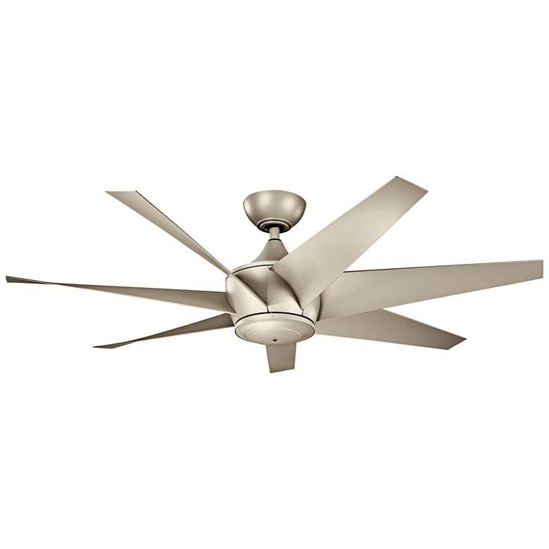"54"" Kichler Lehr II Climates Silver Outdoor Ceiling Fan"