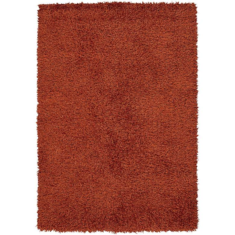 "Chandra Zara ZAR14524 5'x7'6"" Red Shag Area Rug"