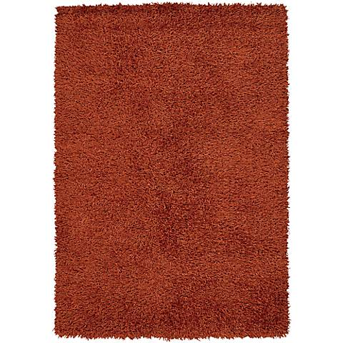 Chandra Zara ZAR14524 Orange Shag Area Rug