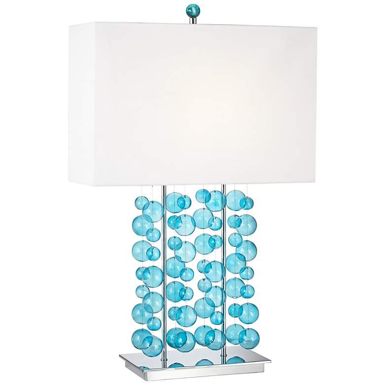 Possini Euro Design Blue Bubble Cascade Table Lamp