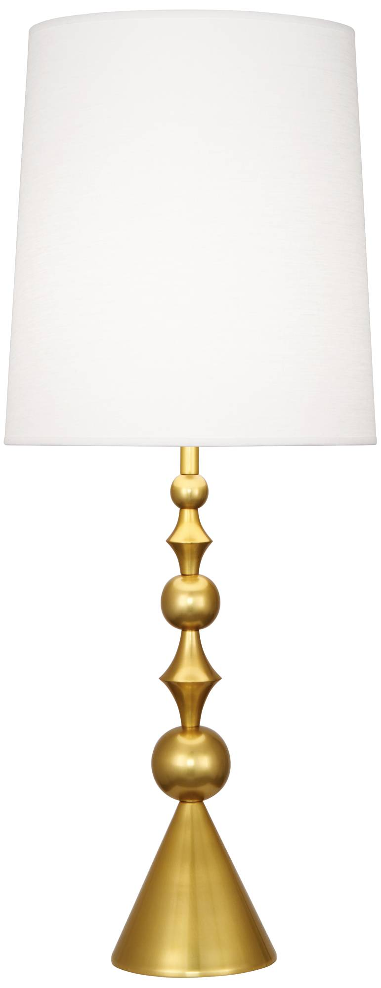 Jonathan adler harlequin antique brass table lamp