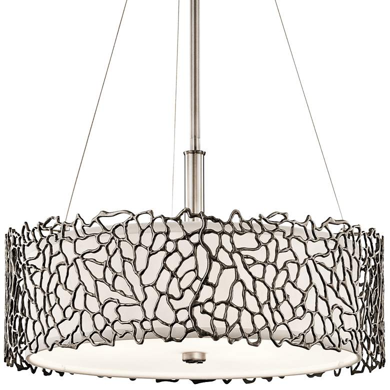 """Kichler Silver Coral 18 1/4"""" Wide Classic Pewter Pendant"""
