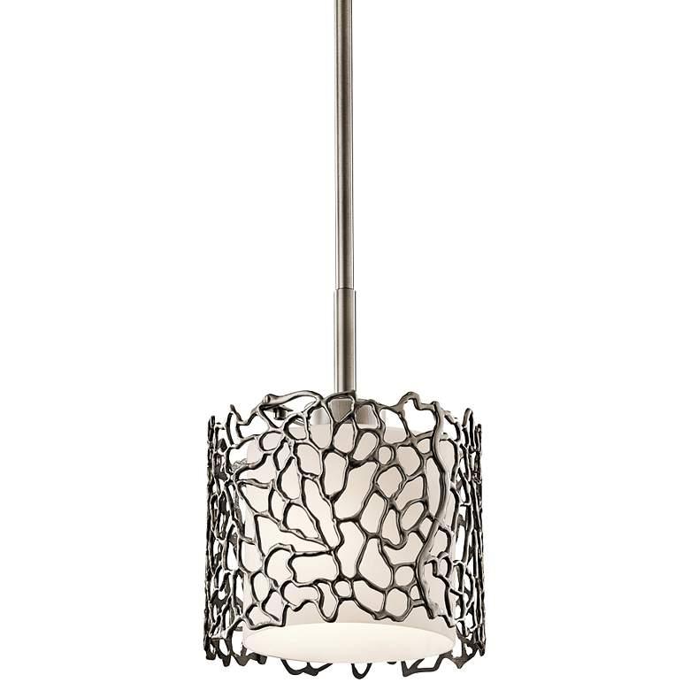 """Kichler Silver Coral 7 1/4"""" Wide Classic Pewter Mini Pendant"""