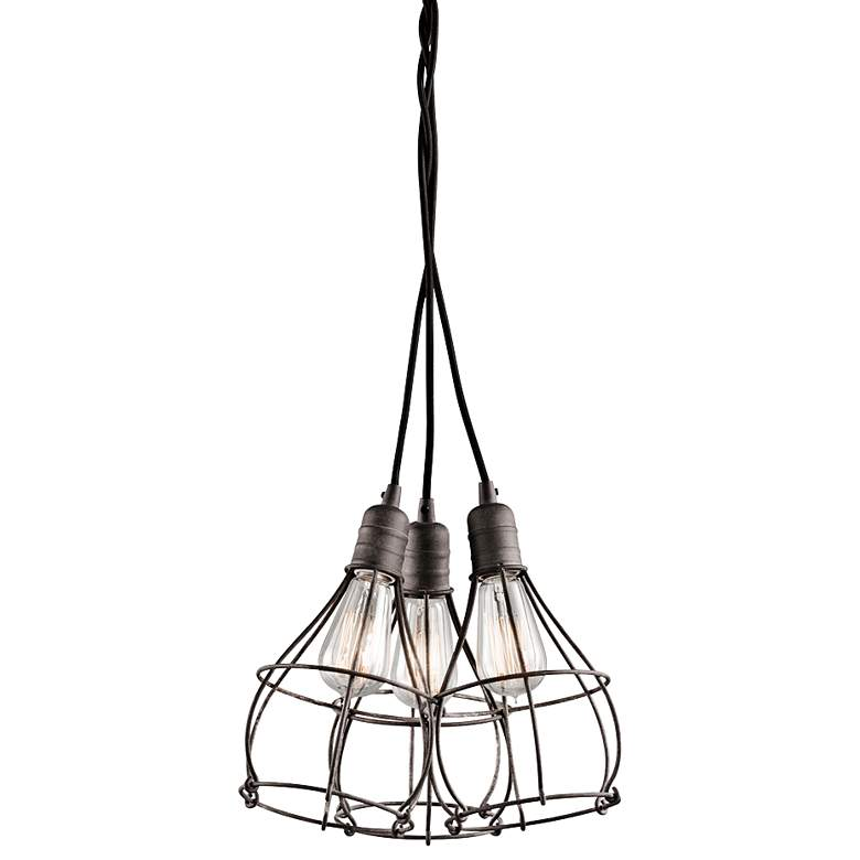 "Kichler Industrial Cage 15 1/4"" Wide Zinc Pendant Light"
